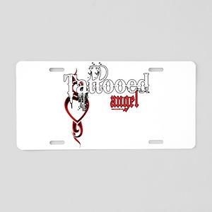 Tattooed Angel Aluminum License Plate