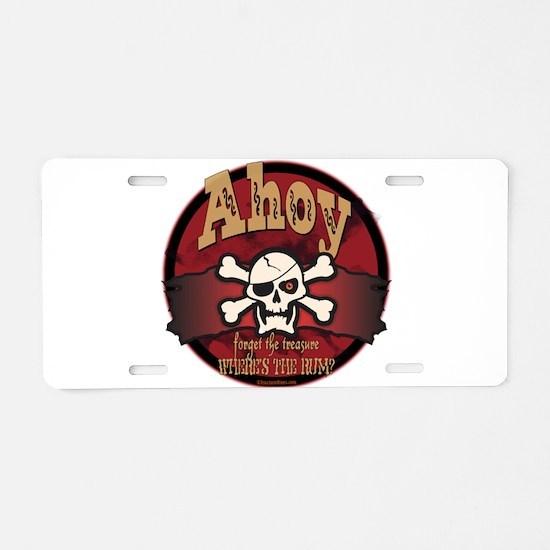 Where's The Rum Aluminum License Plate
