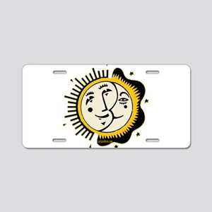 Sun Moon and Stars Yin Yang Aluminum License Plate