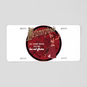Metamorphosis Aluminum License Plate
