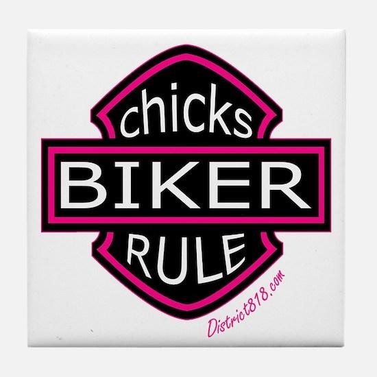 BIKER CHICKS Tile Coaster