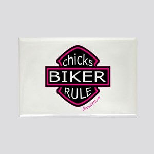 BIKER CHICKS Rectangle Magnet
