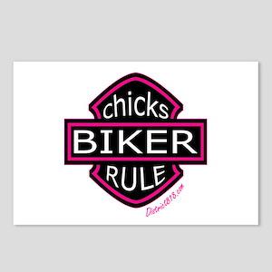 BIKER CHICKS Postcards (Package of 8)