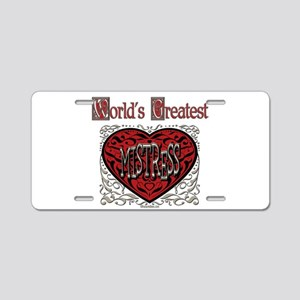 World's Best Mistress Aluminum License Plate