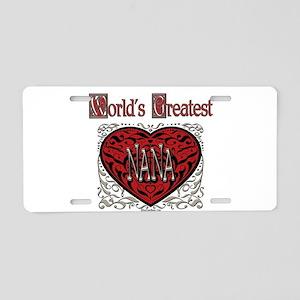 World's Best Nana Aluminum License Plate