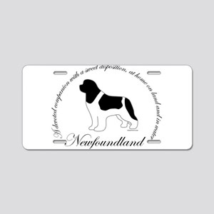 Devoted Landseer Newf Aluminum License Plate