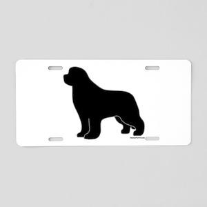 Newfoundland Silhouette Aluminum License Plate