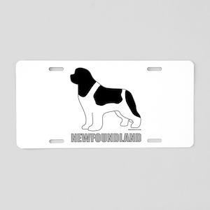 Landseer Silhouette Aluminum License Plate
