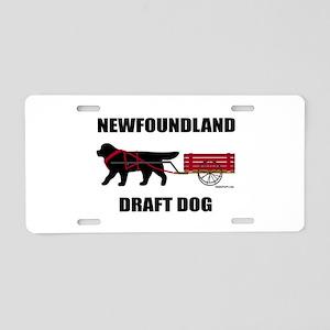 Newfoundland Draft Dog Aluminum License Plate