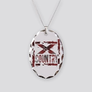 Cross Country Necklace Oval Charm