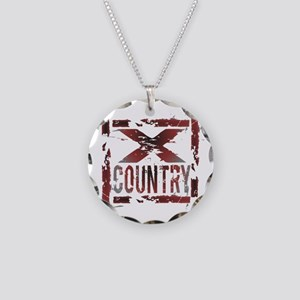 Cross Country Necklace Circle Charm