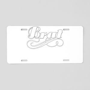 Just A Brat Aluminum License Plate