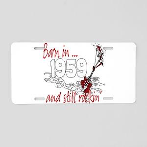 Born in 1959 Aluminum License Plate