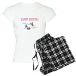 Jack Russell and Easter Bunny Women's Light Pajama