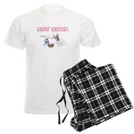 Jack Russell and Easter Bunny Men's Light Pajamas