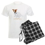 Jack Russell Terrier Painting Men's Light Pajamas