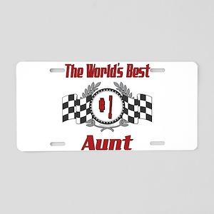 Racing Aunt Aluminum License Plate