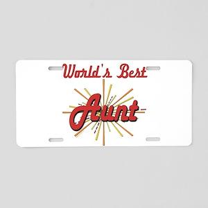 Starburst Aunt Aluminum License Plate