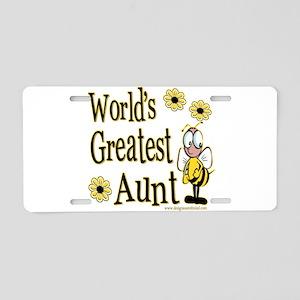 Aunt Bumble Bee Aluminum License Plate