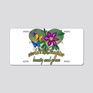Beautiful Daughter Aluminum License Plate