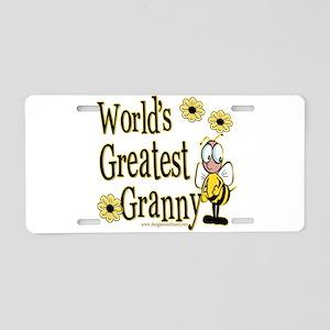 Granny Bumble Bee Aluminum License Plate