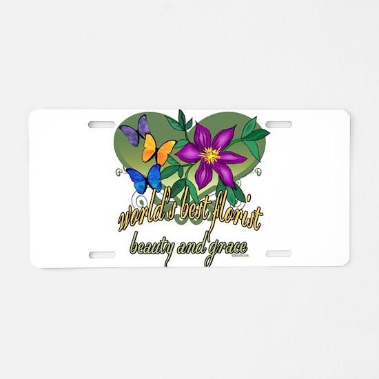 Beautiful Florist Aluminum License Plate