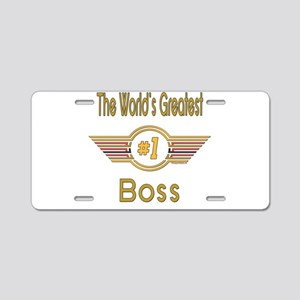 Number 1 Boss Aluminum License Plate