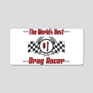 Drag Racer Aluminum License Plate