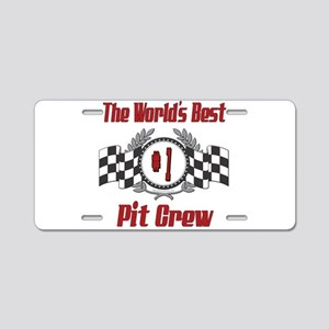 Racing Pit Crew Aluminum License Plate