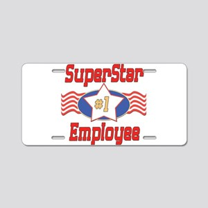 Superstar Employee Aluminum License Plate
