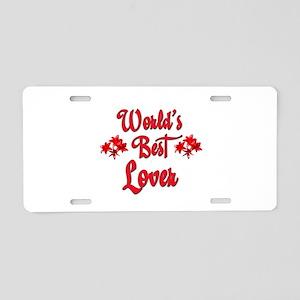 World's Best Lover Aluminum License Plate
