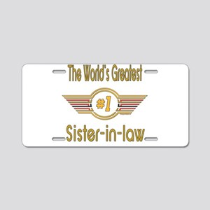 Number 1 Sister-in-law Aluminum License Plate