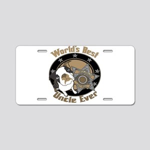 Top Dog Uncle Aluminum License Plate