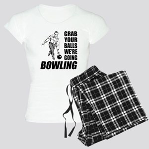 Grab Your Balls Bowling Women's Light Pajamas