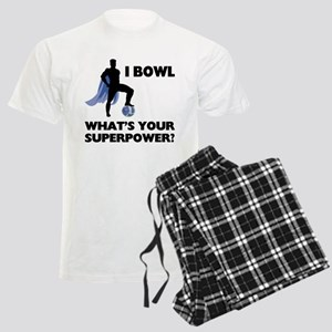 Bowling Superhero Men's Light Pajamas