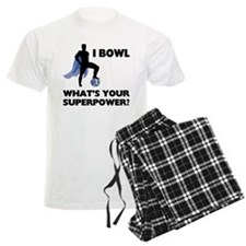 Bowling Superhero Men's Light Pajamas