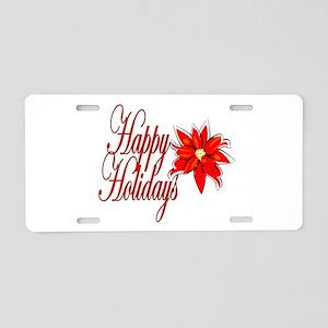 Happy Holidays Aluminum License Plate