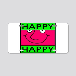 Happy Aluminum License Plate