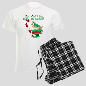 Candy Cane Elf Men's Light Pajamas