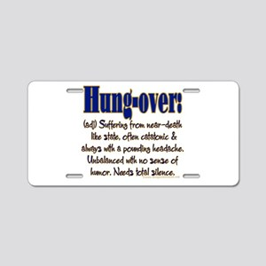 Hung-over Aluminum License Plate