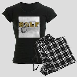Golf Nuts Women's Dark Pajamas