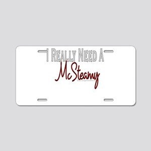 Need A McSteamy Aluminum License Plate