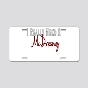 Need A McDreamy Aluminum License Plate