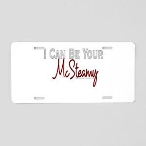McSteamy Aluminum License Plate