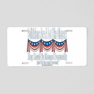 Political Diapers Aluminum License Plate
