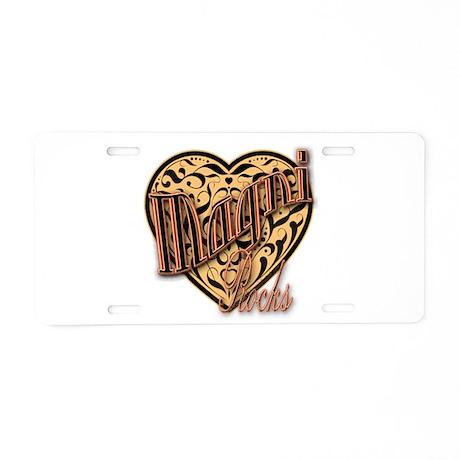 Magni Aluminum License Plate