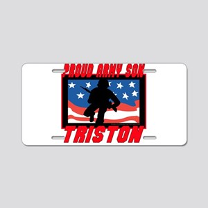 Triston Proud Son Aluminum License Plate