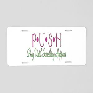 PUSH Aluminum License Plate