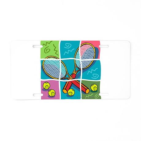 Tennis Fun Aluminum License Plate