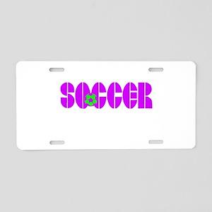 Soccer Chic Aluminum License Plate